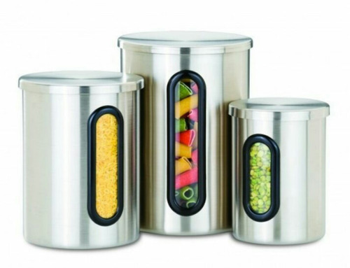 set d potes, envases d lujo d cocina acero inoxidable guttle
