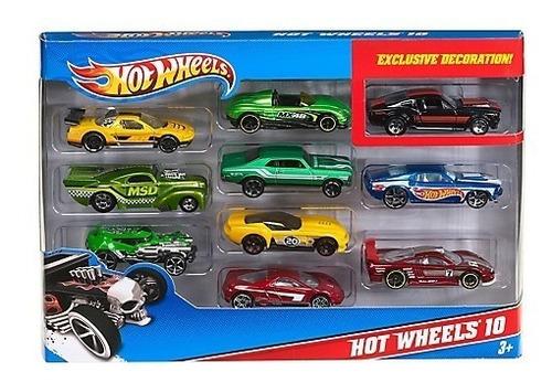 set de 10 autos surtidos hot wheels / rabstore