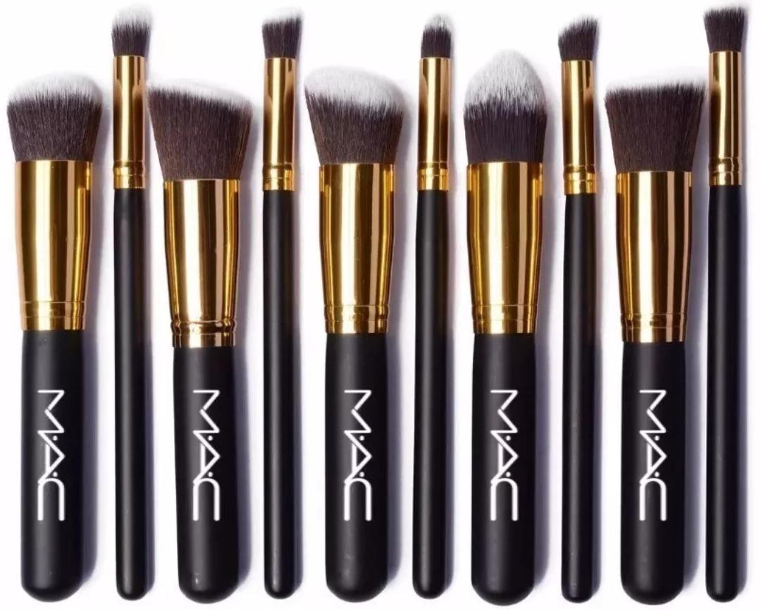 e75474f0a Set De 10 Brochas Kabuki Mac Maquillaje Profesional - $ 900,00 en ...