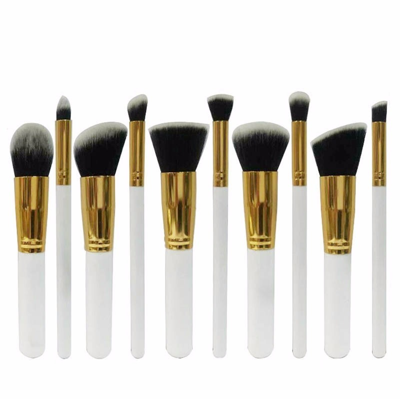 104751844092b set de 10 brochas kabuki maquillaje profesional envío gratis. Cargando zoom.