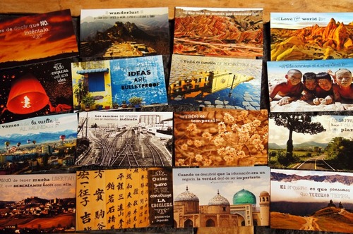 set de 10 postales viajeras