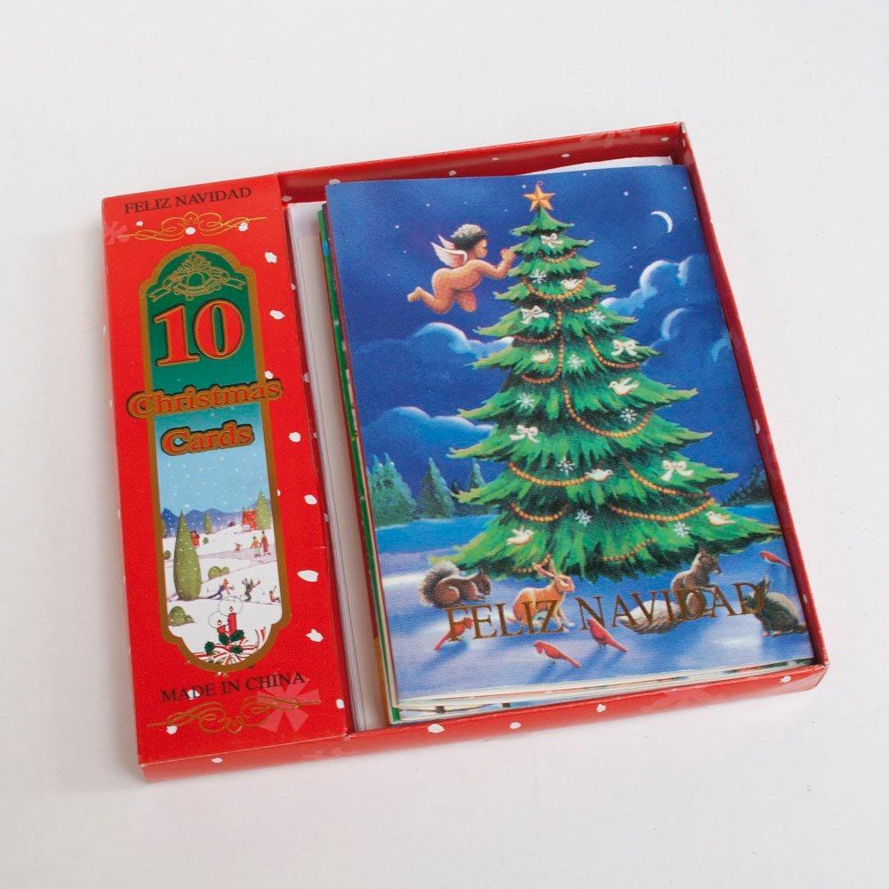 Set De 10 Tarjetas Vintage Navidad 17931 En Mercado Libre - Vintage-navidad