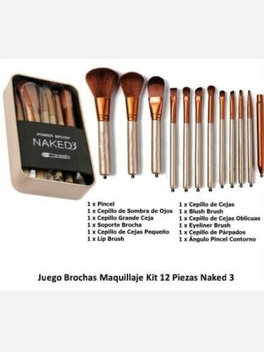set de 12 brochas naked 3 urban dec - unidad a $138