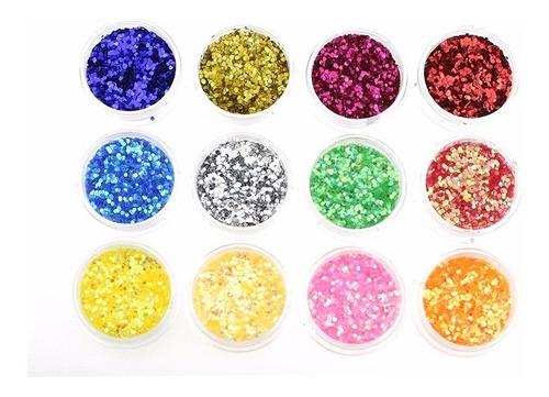 set de 12 strass/glitters/  para decoración de uñas