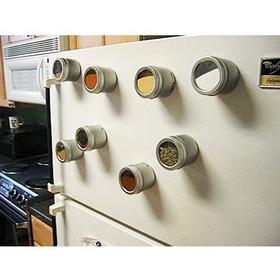 Set De 14 Especieros Magneticos Con Tapa Transparente Iman A1