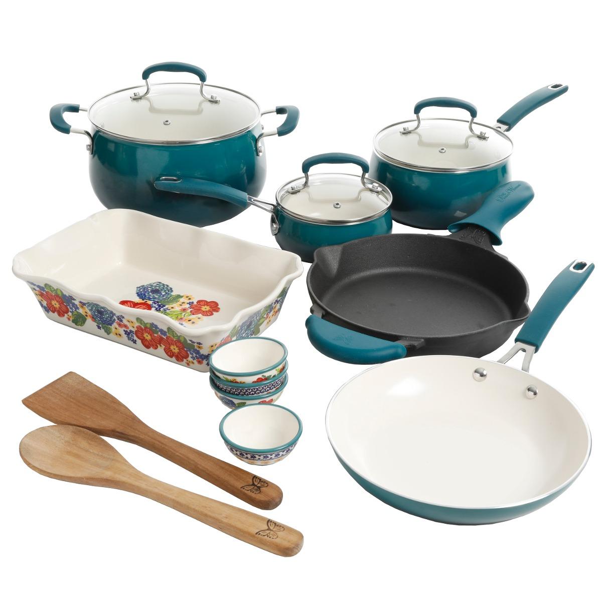 Set De 17 Piezas De Utensilios De Cocina, Con Diseño De - $ 4,639.40 ...