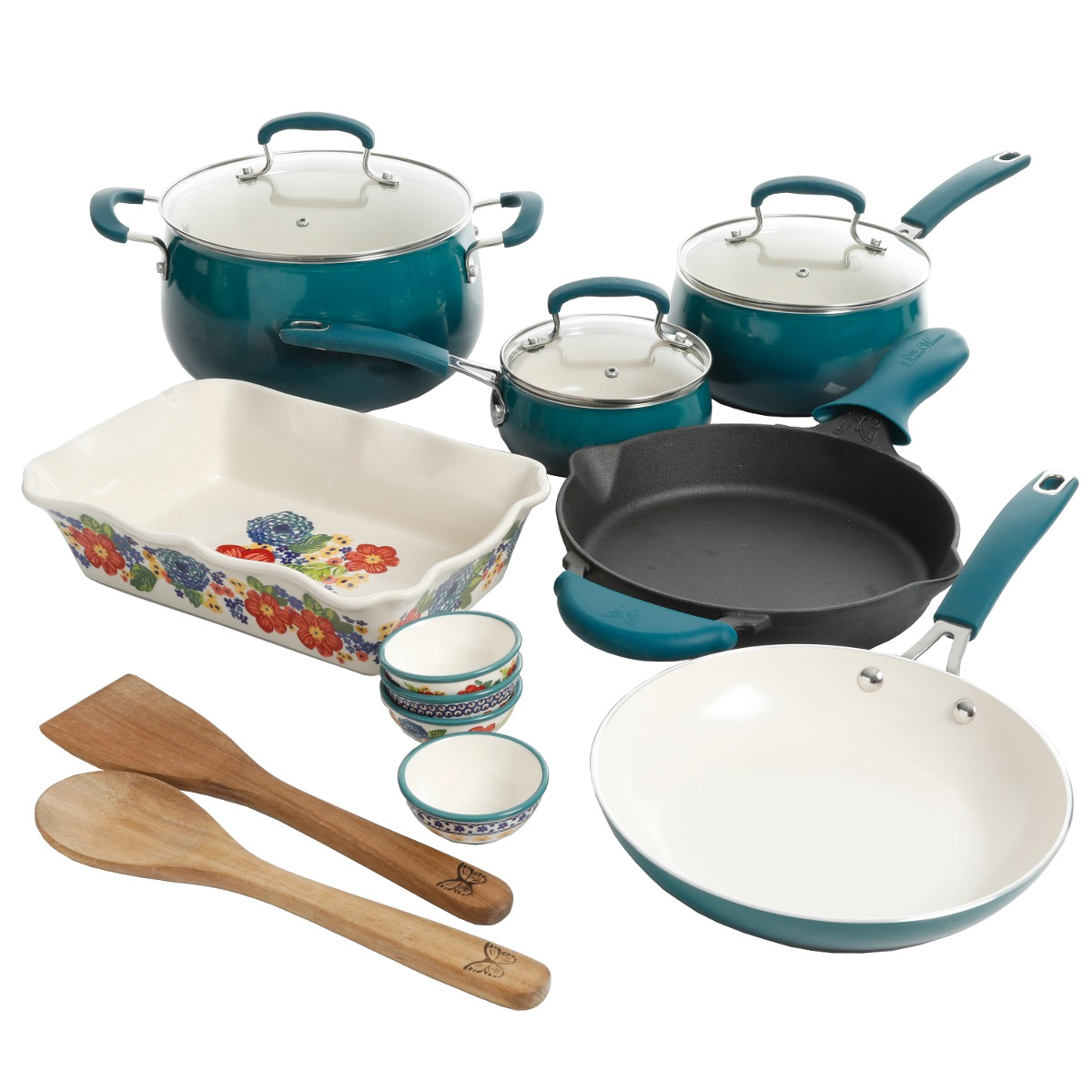 Set De 17 Piezas De Utensilios De Cocina, Con Diseño De - $ 8.851,83 ...