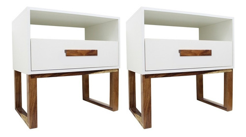 set de 2 buros bianco cajonera buroes goca muebles