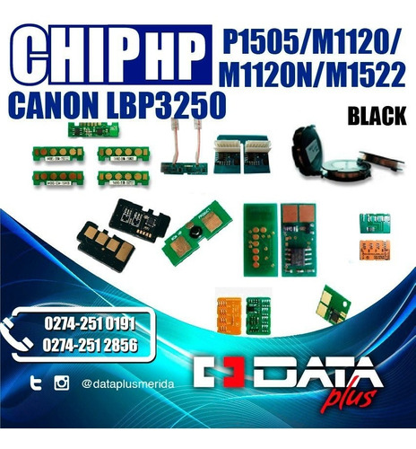 set de 2 chip hp p1505/m1120/m1120n/m1522,lbp3250,black