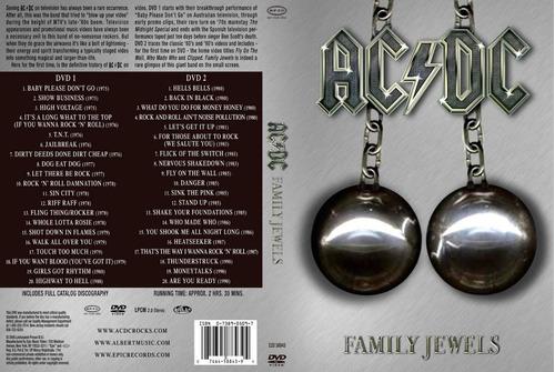 set de 2 dvds de acdc jewels 40 videos + folleto color