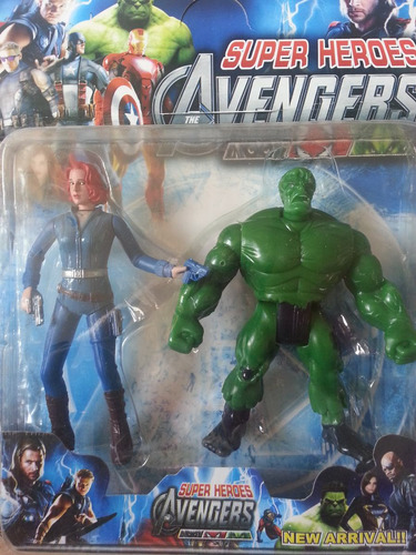 set de 2 figuras de accion super heroes avengers