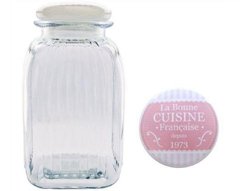 set de 2 frascos con tapa ceramica hermetica
