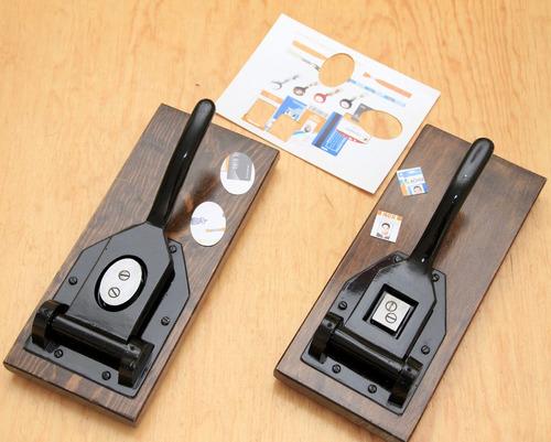 set de 2 guillotinas infantil o credencial o cartilla o visa