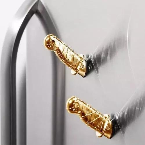 set de 2 imanes forma de mangos dagas ninja dorado h4007