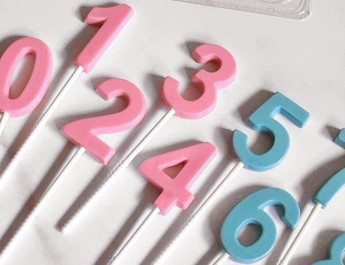 set de 2 moldes placas de números parpen