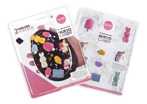 set de 2 moldes placas huevo candy parpen