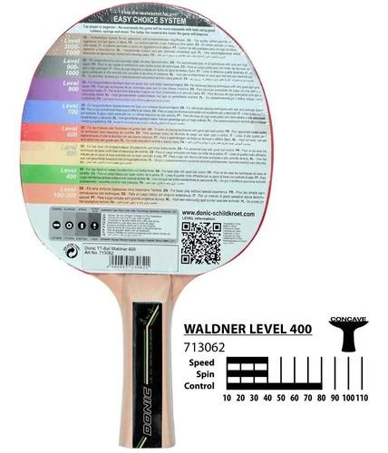 set de 2 paleta ping pong donic waldner 400 3 pelotitas 3***