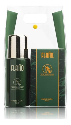 set de 2 piezas flaño edc 120ml + desodorante spray