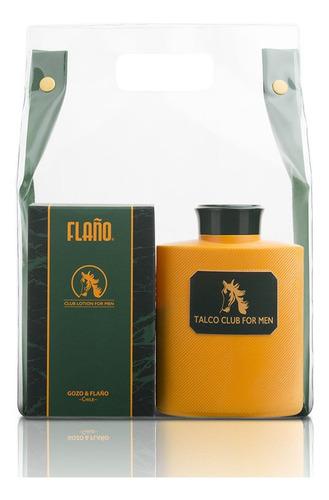 set de 2 piezas flaño edc 120ml + talco for men