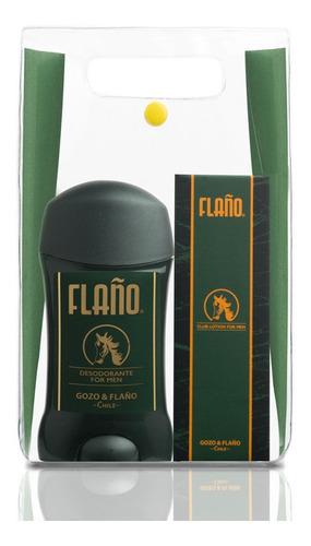 set de 2 piezas flaño edc 50ml + desodorante barra