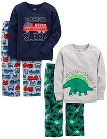 91284c9f5c Set De 2 Pijamas De Dormir Calientitas Niños 4 Marca Carters