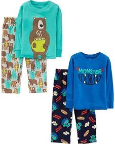 f09e2c0b0e Set De 2 Pijamas De Dormir Calientitas Niños Marca Carters