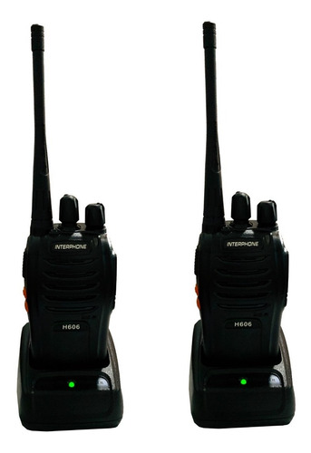 set de 2 radios interphone h606 walkie talkie uhf 16 canales
