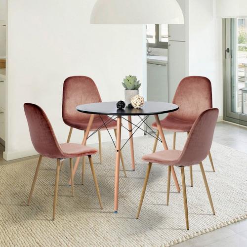 set de 2 silla de comedor tapizadas en terciopelo charlton r