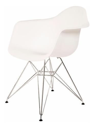 set de 2 sillas eames con brazo pata metálica - promoción!