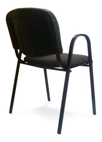 set de 2 sillas oficina ads visita ivy tapiz negro cb