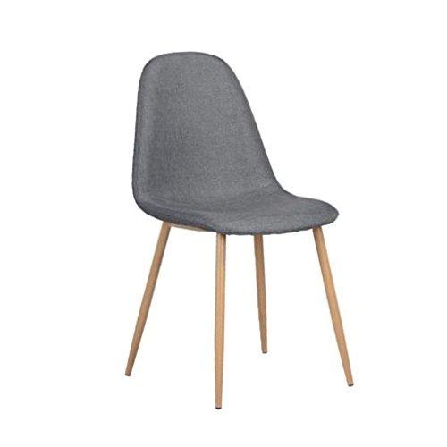 Set De 2 Sillas Para Comedor Tapizadas Diseño Moderno (gris ...