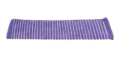 set de 2 tapetes de baño chenille stripes morado