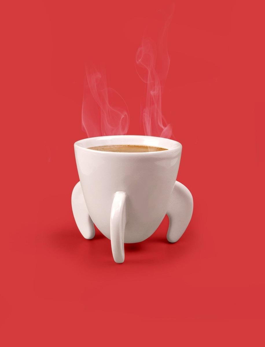Set de 2 tazas para espresso en forma de cohete cer mica for Tazas para espresso