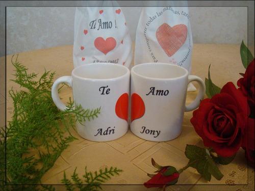 set de 2 tazas para eventos especiales, aniversario, amor