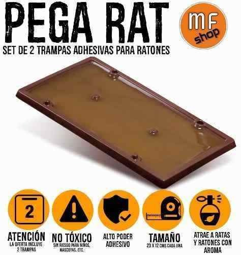 set de 2 trampa adhesivas rata raton 23 x 12 cms no veneno