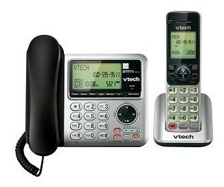 set de 2 vtech telefonos base alambrica + extension cs6649
