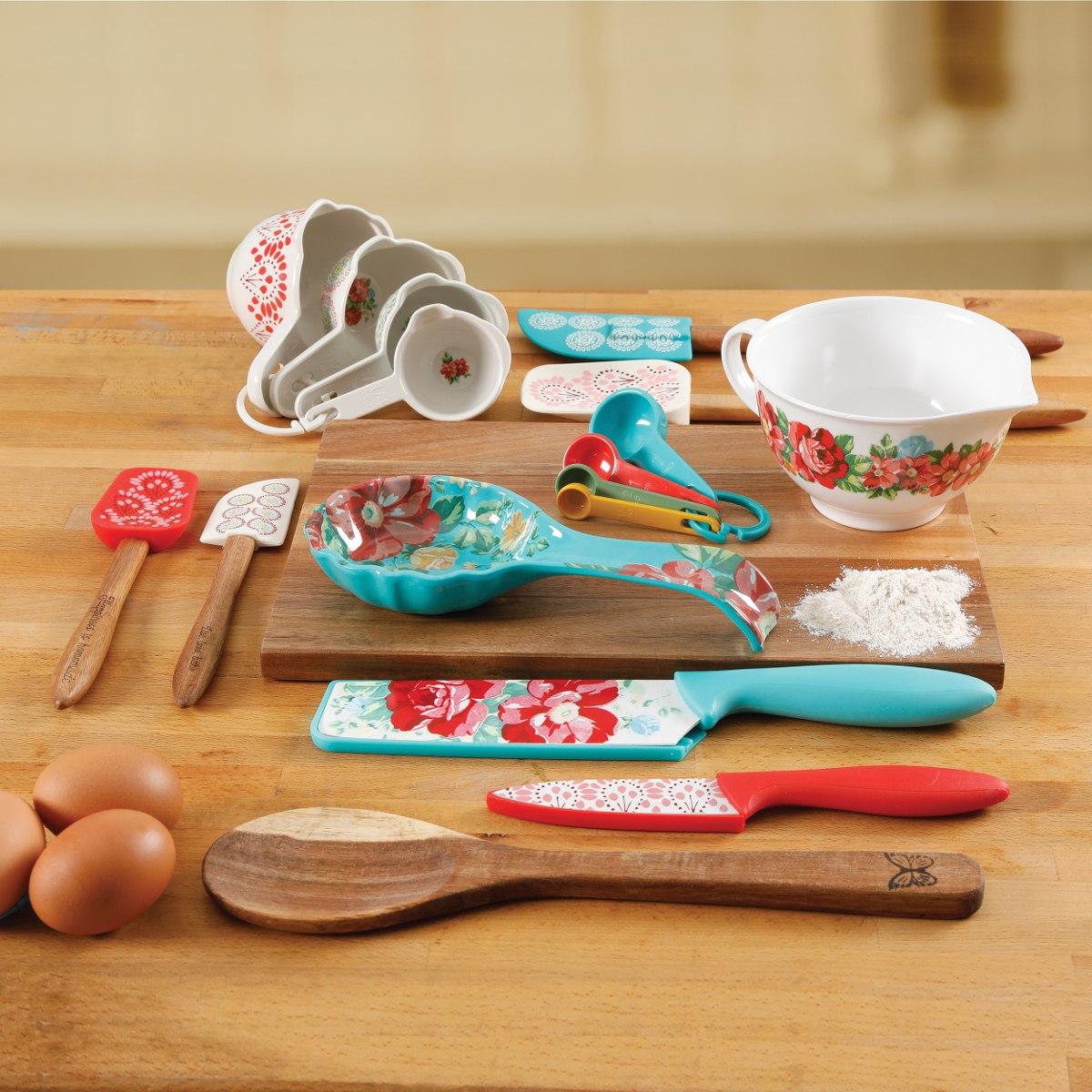 Set De 20 Utensilios De Cocina The Pioneer Woman, Diseño - $ 4.754 ...