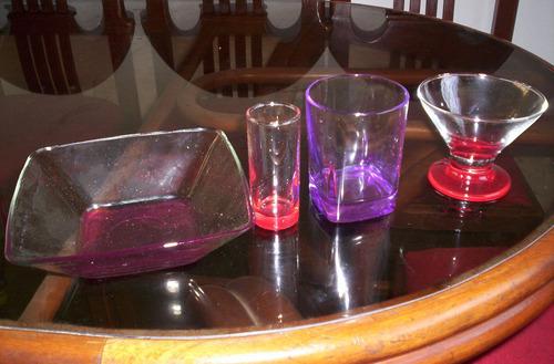 set de 24 piezas fiesta cristar + set de 6 vasos cristar