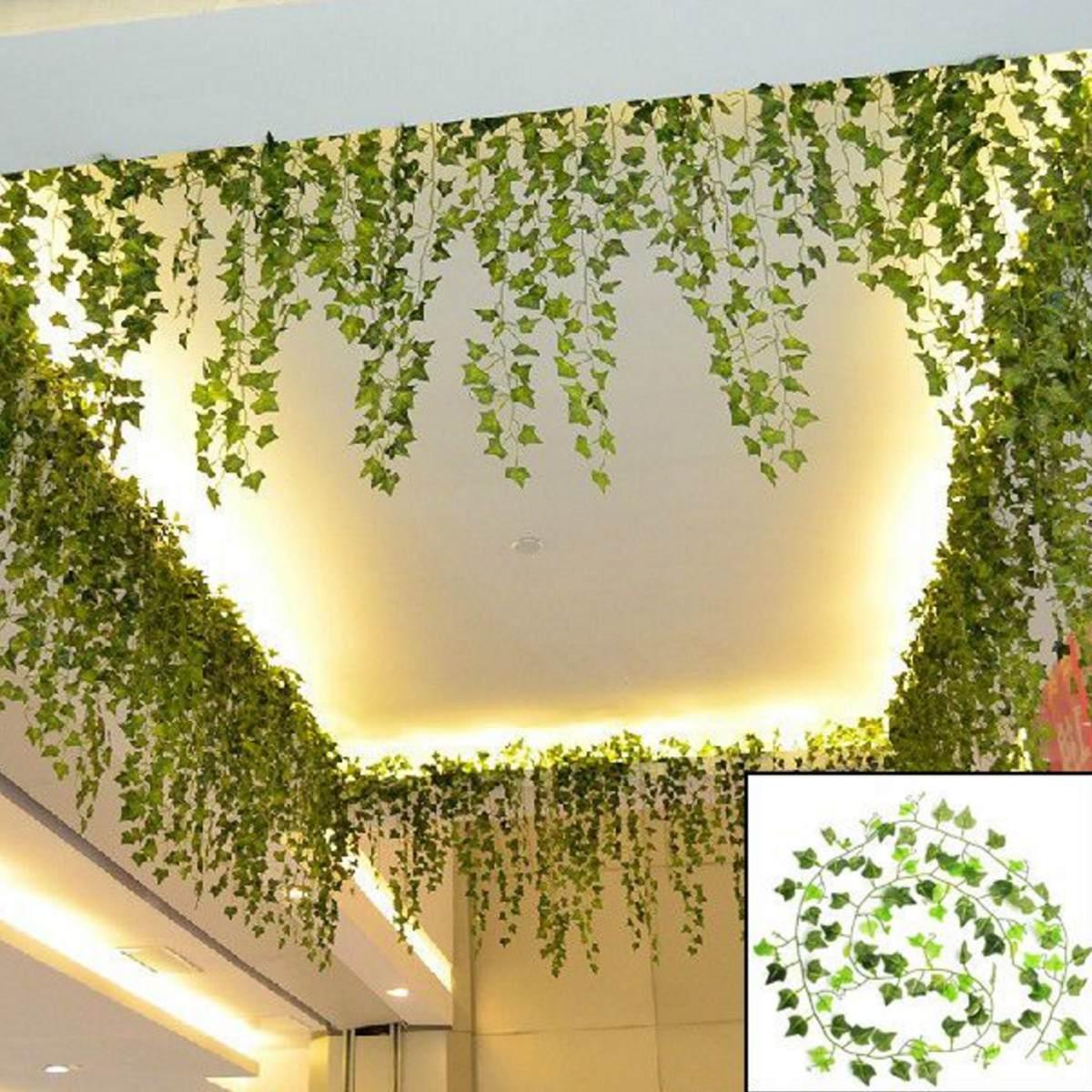 Set de 24 plantas artificiales para decorar for Plantas decorativas artificiales bogota