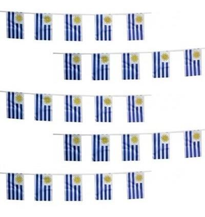 set de 25 banderas de uruguay guirnalda oferta mf shop