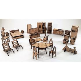 Set De 25 Muebles Para Casa De Muñecas Estan Divinos!!