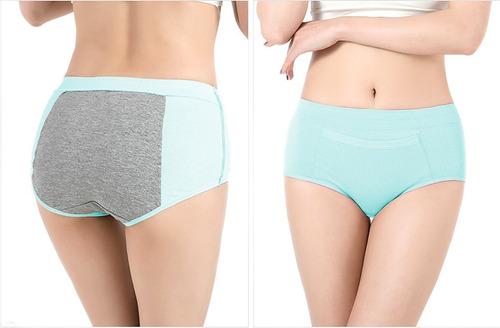 set de 3 calzón menstrual panti anti fuga menstruación