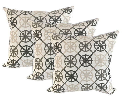 set de 3 cojines decorativos 45x45 - anchor - cafe beige