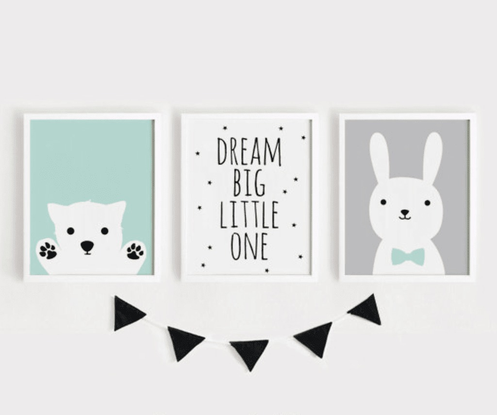 Set De 3 Cuadros Dream Big Little One (15 X 20 Cm - Marco Co ...