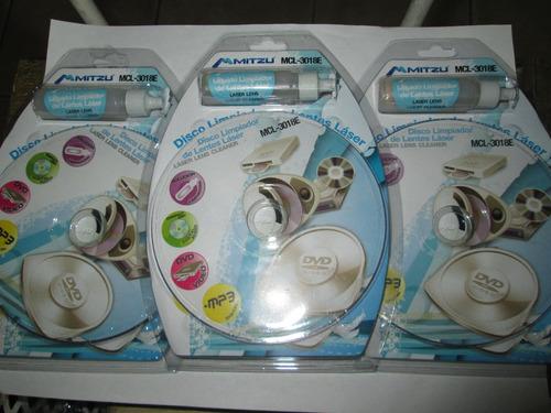 set de 3 discos limpadores de lentes lazer+audifonos (msi)