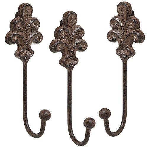 set de 3 estilo victoriano rústico marrón hierro fundido...