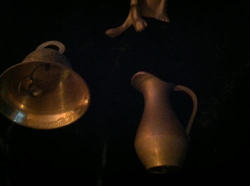 set de 3 figuritas de bronce