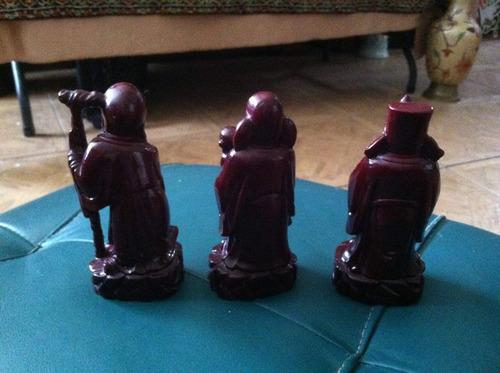 set de 3 figuritas orientales