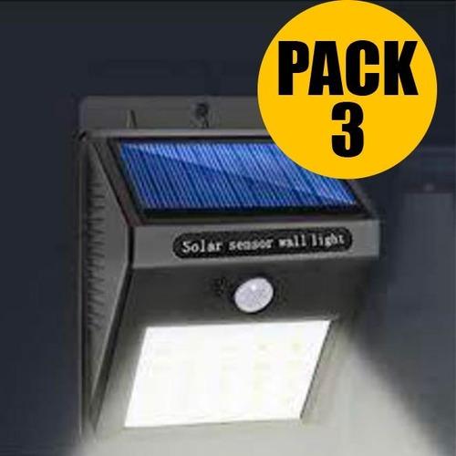 set de 3 focos solares 30 led con envío gratis!