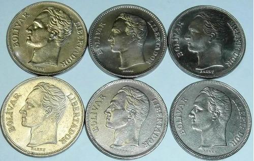 set de  3 llaveros de monedas niquel  bs.1, 2,5  coleccion